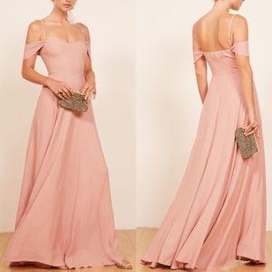 NWT Reformation Poppy Blush Pink Maxi Dress 10